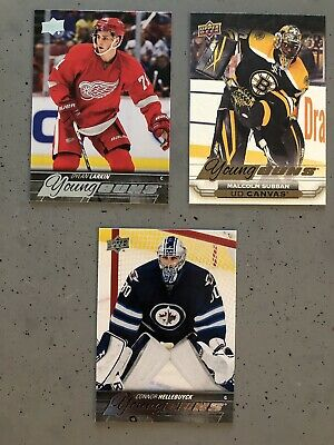 2015-16 UD Young Guns 5 Card lot - Dylan Larkin, Malcolm Subban, Hellebuyck, etc