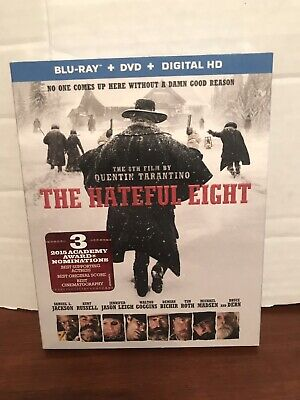 The Hateful Eight (Blu-ray/DVD, 2016, 2-Disc +Digital Factory Sealed Slip Cover