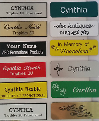 Name badges (Quality 1.5mm thick plastic) with Pin, Magnetic or no attachment