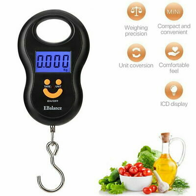 Digital Luggage Scales Hand Held Checked Airport Baggage Bag Carry LCD Y4F0D