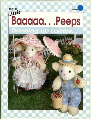 Craft Pattern - Little Baaaaa Peeps - Dressing Up Lambs