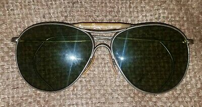 1940's WW2 Vintage American Optical Aviator Sun Glasses w/ Case