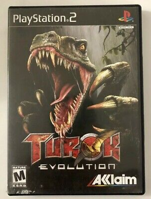 Turok: Evolution (Sony PlayStation 2, 2002) PS2 Game Complete FREE SHIPPING!