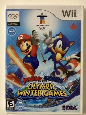 Mario & Sonic at the Olympic Winter Games (Nintendo Wii, 2009) FREE SHIPPING!