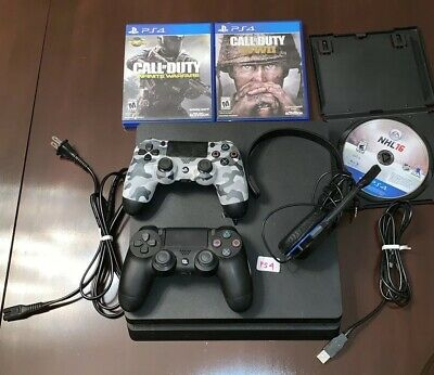Sony PlayStation PS4 500GB Slim Model Console Controllers Headset Games Bundle