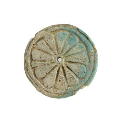An Egyptian Faience Ear Spool, 18th Dynasty, Amarna Period, ca 1352-1336 BCE
