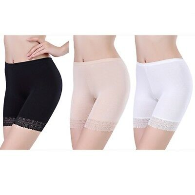 3 Pack Women Lace Stretchy Skinny Shorts Boxer Briefs Underwear Knickers Panties