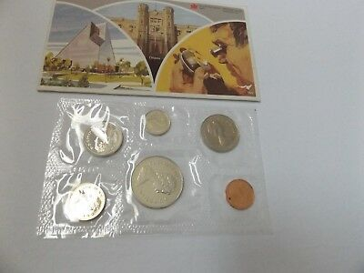 1982  CANADA _   Uncirculated Coin Set_ 6 coins in set _ COA and Envelope