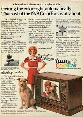 1979 Little Orphan Annie Shelley Bruce RCA ColorTrak System color television Ad