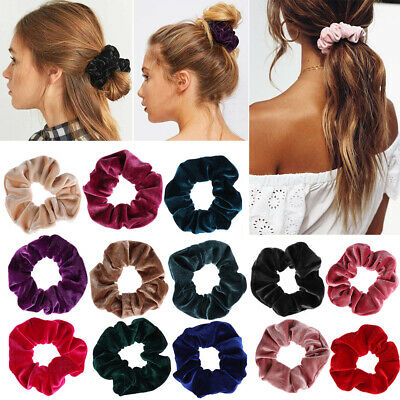 Women Children Hair Scrunchies Velvet Elastic Hair Bands Scrunchy Hair Ties 2019