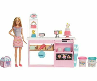 Mattel Barbie Cake Bakery and Doll Play Set Barbiepuppen Toy from 3 J