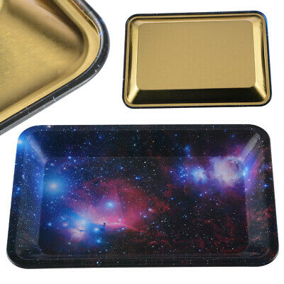 Metal Rolling Tray Plate Starry Cigarette Tobacco Smoking Holder Trays 18*12cm