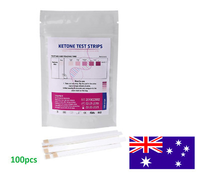 100pcs Ketone Test Strips Urine Analysis Keto Sticks Ketosis Ketostix Diet Test