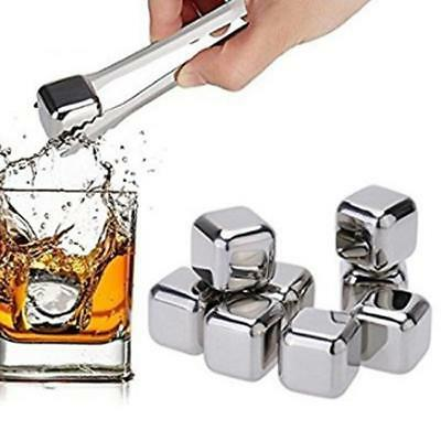 Whisky Ice Cubes Rocks Stainless Steel Cooler Chilling Glacier Scotch Drinks HD