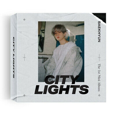 EXO BAEKHYUN CITY LIGHTS 1st Mini Kihno Album Kit+POSTER+P.Book+Card+GIFT SEALED