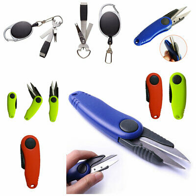 Fly Fishing Plier Sewing String Line Cutter Scissors Blade/ Nipper / Retractor