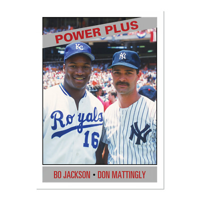2019 Topps Bo Jackson Don Mattingly #165 Only From TBT set 28 1966 Power Plus PS