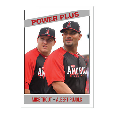 2019 Topps Mike Trout Albert Pujols #166 Only From TBT set 28 1966 Power Plus PS
