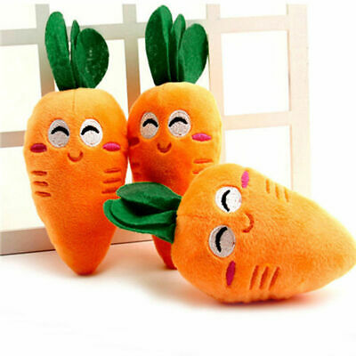 For Dog Toy Play Lovely Pet Puppy Carrot Plush Chew Squeaker Squeaky Sound Toys