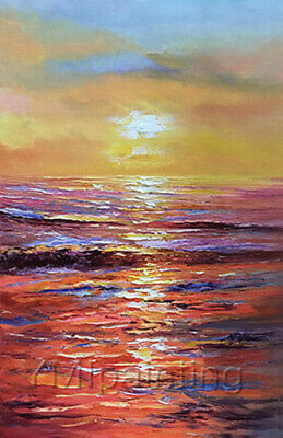 LMOP1085 charming Sunset seascape handmade painted oil painting art on canvas