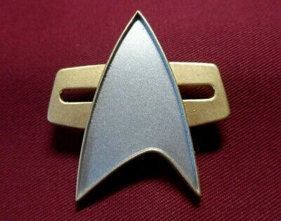 Star Trek Next Generation Communicator Pin Combadge Badge Uniform Picard Nemesis