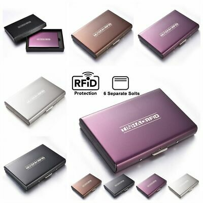 Anti-scan Stainless Steel Case Slim ID RFID Blocking Contactless Wallet Holder