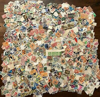 WORLD  -  Box of stamps Off Paper Kiloware Mixture 400 grams of used see scans