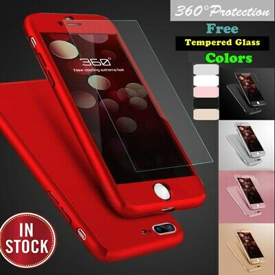 For iPhone X XR XS Max 8 7 6 Plus Case Shockproof 360° Bumper Hybrid Phone Cover