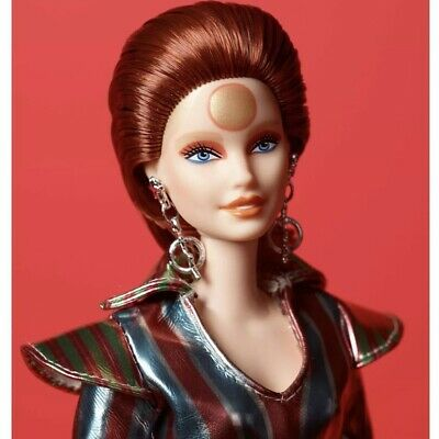 New Nrfb David Bowie Barbie Doll Gold Label - Ready To Ship - In Hand