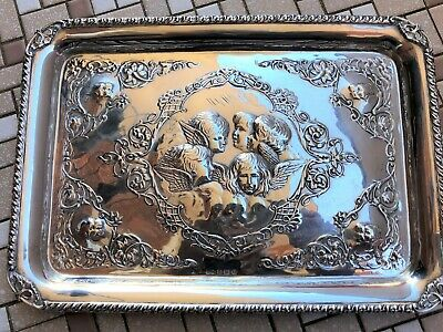 Solid Silver Tray - Henry Mathews - Birmingham - 1906