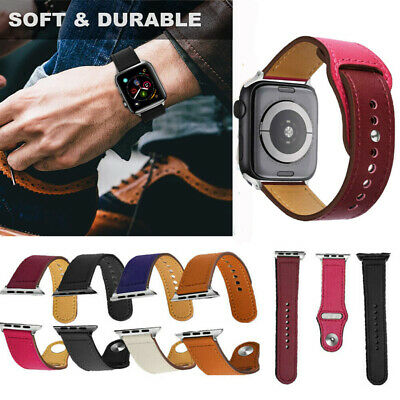 CA Genuine Leather Wrist Band Strap For Apple Watch iWatch Series 38/40/42/44mm