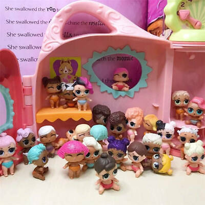10X LOL Surprise Doll LiL Sister Baby Doll Christmas Kids Gift Toy Send Random