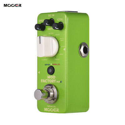 MOOER MOD FACTORY MKII Multi Modulation Effect Pedal 11 Effects Tap Tempo M0M8