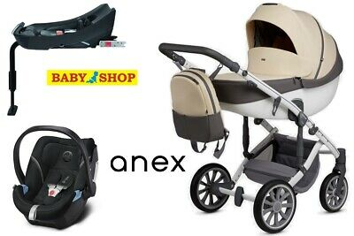 Stroller Anex m/type Sport pram pushchair 4in1 car seat isofix base adapters