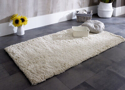 High Quality Ivory Cream Indulging and Super Soft Cuddly Shaggy Rugs -30%OFF RRP