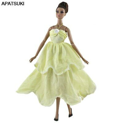 "Light Yellow Fashion Dress For 11.5"" 1/6 Doll Clothes Outfits Princess Gown Toy"