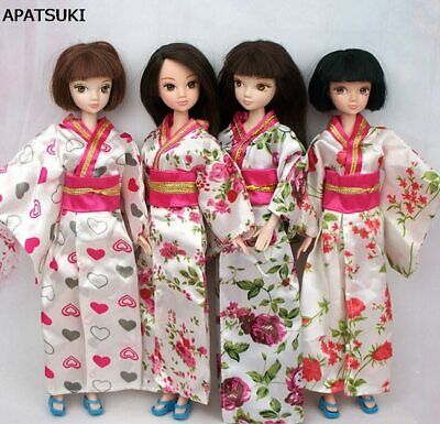 "White Gold Party Dress For 11.5"" Doll Outfits Princess Gown 1/6 Doll Clothes Toy"