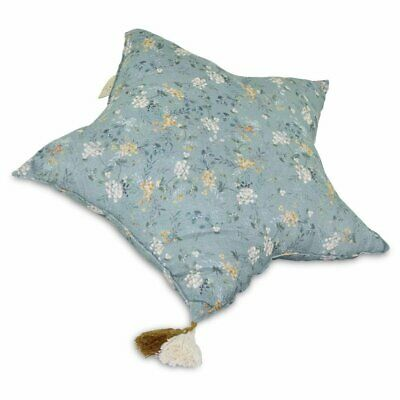 NEW CHILDRENS Muslin Star Pillow Large - Green Branches