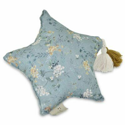 NEW CHILDRENS Muslin Star Pillow Small - Green Branches