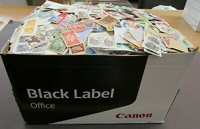 Vast Collection Of Mostly Earlier/Mid & Vintage Stamps On/Off Paper - In Box