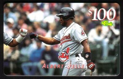 $100. Albert Belle (Indians) MLB Giveaway Issue (Exp 10/25/97) Horiz Phone Card
