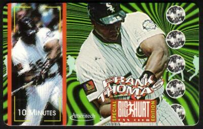 10m Frank Thomas Big Hurt Baseball Fan Club Special Edition SPECIMEN Phone Card