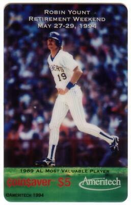 $5. Robin Yount Retirement Weekend (Running - 1989 AL MVP) 0 SPECIMEN Phone Card