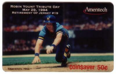 .50, $2, $5, $10. Robin Yount Retirement Weekend: Set of 4 SPECIMENS Phone Card