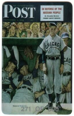 15m Baseball Images: Rockwell Saturday Evening Post: Matched Set of 3 Phone Card