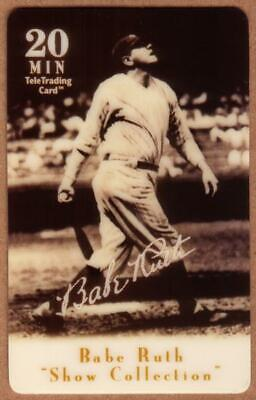 20m Babe Ruth Baseball: Show Collection: Babe Ruth Swings (Bat Down) Phone Card