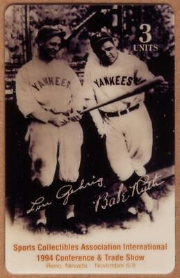 3u Babe Ruth Baseball: Reno, Nevada Expo: Babe Ruth & Lou Gehrig Phone Card