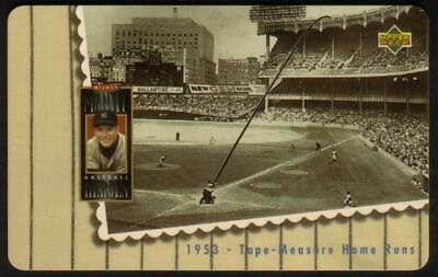 10m Mickey Mantle & Stadium '1953 - Tape - Measure Home Runs' Phone Card