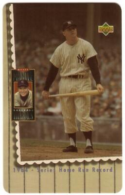 10m Mickey Mantle Baseball Photo '1964 - Series Home Run Record' Phone Card
