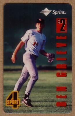 Assets $2. 4-Sport Series: Ben Grieve Baseball (#24) TEST Phone Card